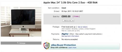 iMac for sale on eBay