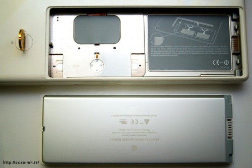 MacBook battery compartment